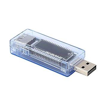 Pudincoco 3 en 1 USB de carga Amp Voltaje actual probador del detector móvil del metro de energía azul: Amazon.es: Bricolaje y herramientas
