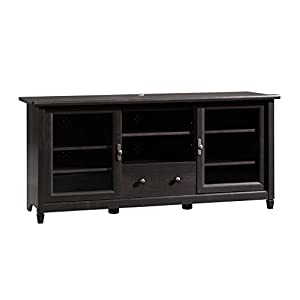 Sauder 409048 Edge Water Entertainment Credenza, For TV's up to 55″, Estate Black finish