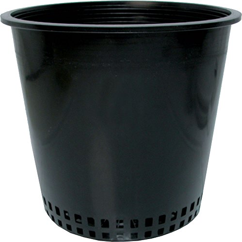Hydrofarm Round Mesh Bottom Pot Planters, Black, Set of 50