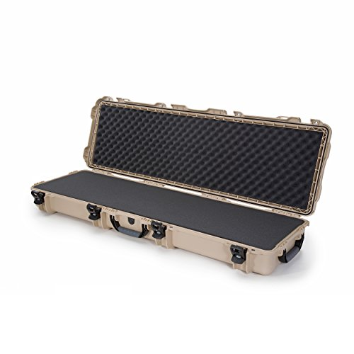 Nanuk 995 Waterproof Professional Rifle/Gun Case, Military Approved with Foam Insert with Wheels - Tan - Made in Canada