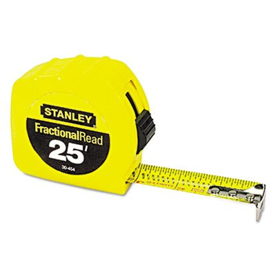 tape-rule-1-x-25ft-steel-blade-plastic-case-yellow-sold-as-1-each