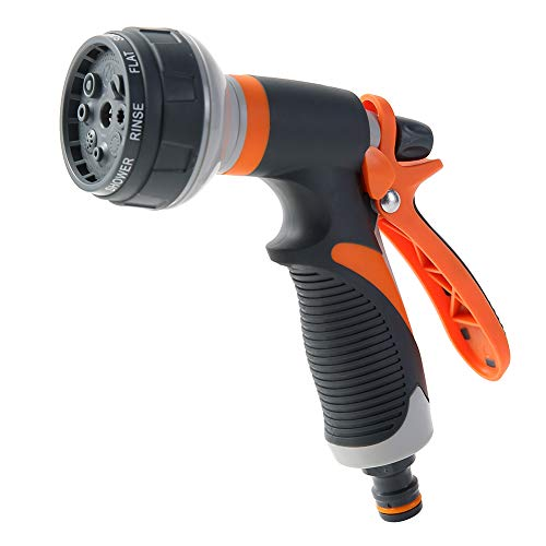 Garden Hose Nozzel - BBD Professional Grade Hose Head - 8 Spray Patterns -High Pressure Nozzle - No LEAKS
