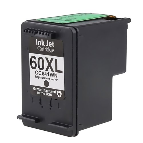 Free Remanufactured Black Ink Cartridge for HP 60XL