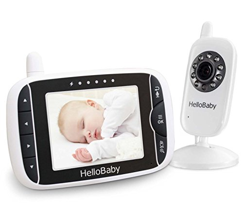 hello baby hb32 wireless digital video baby monitor with recharger battery mo. Black Bedroom Furniture Sets. Home Design Ideas