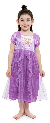Disney Big Girls' Fantasy Nightgowns, Rapunzel Lively Lavender, 8 -
