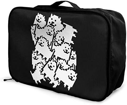 トラベルポーチ アレンジケース アンダーテール 犬 旅行収納バッグ 衣類収納バッグ 収納専用ポーチ 手提げ 短期出張 多機能 ファスナー 収納便利グッズ 軽量 大容量 便利 ビジネス 海外旅行 整理用