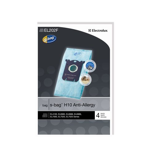 Genuine Electrolux Anti-Allergy s-bag EL202F - 4 bags