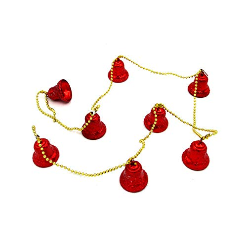 (Jiusike 1.7M Christmas Tree Hanging Colorful Bells Jingle Ornaments Holiday Party Charms Festival DIY Craft Pendant Decoration Xmas Decor)