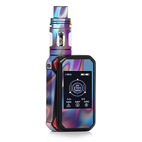 Skin Decal Vinyl Wrap for Smok G-Priv 2 230w touch screen Vape stickers skins cover / Opalescent Resin marble oil Slick (Best Touch Screen Vape Mod)