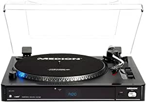 Medion LIFE E69080 USB - Tocadiscos (reproductor de MP3, lector de tarjetas)