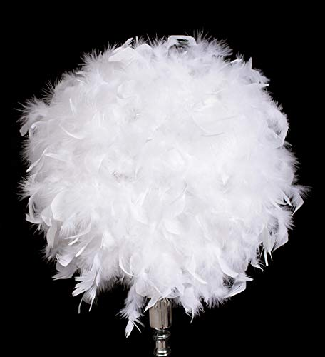 White Feather Ball, Decoration, 12 Inches, Prom, Homecoming, Wedding Decoration ()