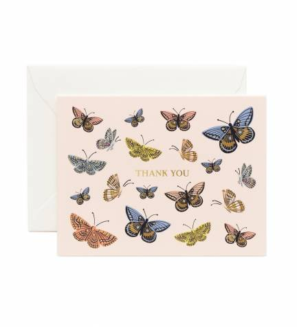 Monarch Butterfly Thank You Note Cards by Rifle Paper Co. -- Set of 8 Cards and Envelopes ()