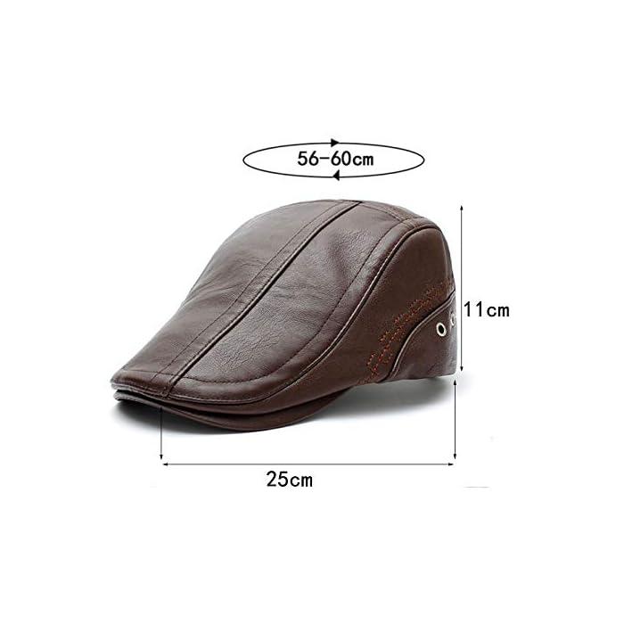 41I2SLNhE3L Boinas Suave, cómodo y flexible; Conveniente para al al aire libre.Pliega para su almacenamiento En general, se trata de un casquillo de golf de peso ligero y elegante que es realmente grande para cualquier actividad o salidas PU(Poliuretano)