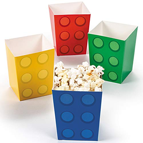 Fun Express - Block Party Popcorn Boxes (24pc) for Birthday - Party Supplies - Containers & Boxes - Paper Boxes - Birthday - 24 -