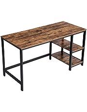 VASAGLE bureau, computertafel, pc-tafel, bureautafel, met 2 legplanken rechts of links