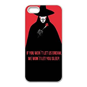 V For Vendetta Quote Typography 0 15 iPhone5s Cell Phone Case White present pp001_9582533