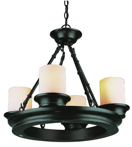 Trans Globe Metal Chandelier - Trans Globe Lighting 3364 ROB Lodge Five Light Chandelier