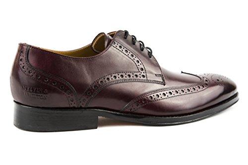 Melvin & Hamilton - Zapatos de cordones de Piel Lisa para hombre rojo rojo 42