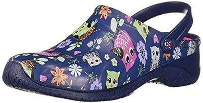 AnyWear Women's ZONE Shoe, Sweet owls/Navy, 10 Medium US