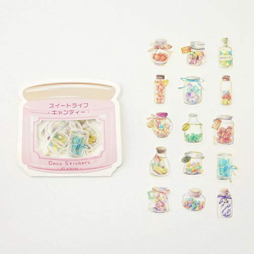 BGM - Flake Stickers - Flake Seal Foil Stamping - Suite Life ・Candy (Washi Tape Material)