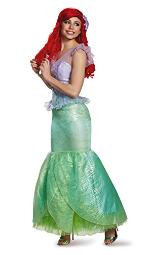 [Disney Women's the Little Mermaid Ariel Ultra Prestige Costume, Multi, Medium] (Ariel Dress For Adults)