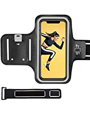 Cell Phone Armband, Running Armband, Sweatproof Sports Armband with Extension Strap, Key Slot, Card & Earphone Holder for Running, Jogging, Fit for iPhone 12 Mini SE XS X 8 7 up to 5.8''