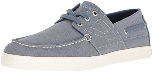 Price comparison product image Tretorn Men's Motto Boat Shoe, Blue, 10.5 Medium US