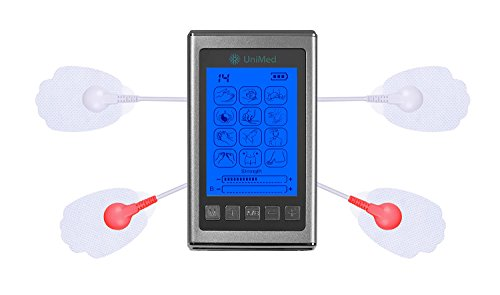 Unimed Pro X Tens Unit Muscle Stimulator Massager 12 Modes Dual A B Channel [Lifetime Warranty] (Silver)