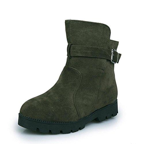 Transer® Damen Stiefel & Stiefeletten Mode Synthetisches Kunstleder+Plastik Schuh Stiefel Wölbungs Martin Aufladungen Grün