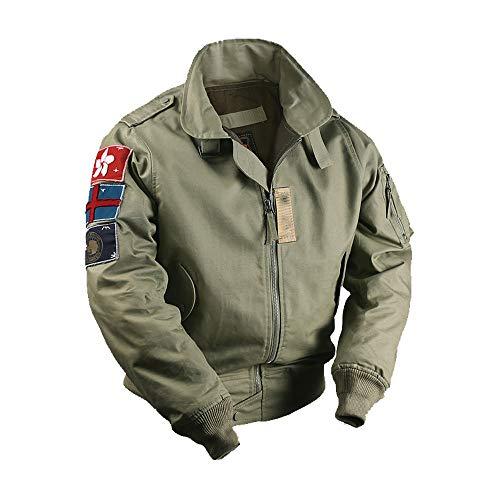 US Air Force Vintage Flight Jacket CWU-45/P 3 Shoulder Decals Version ()