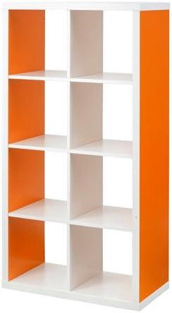 Ikea Kallax – Estanterías Unidad, Blanco – Naranja: Amazon.es ...