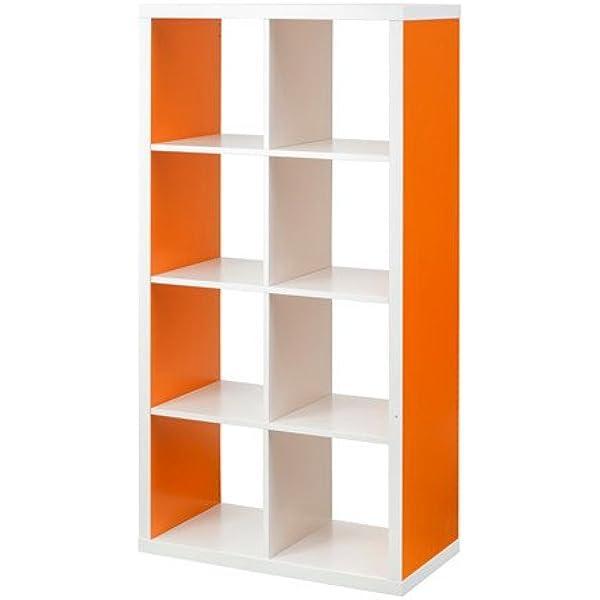 Ikea Kallax – Estanterías Unidad, Blanco – Naranja: Amazon ...