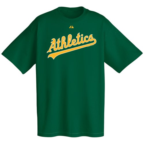 MLB Oakland A's Wordmark T-Shirt, Green, X-Large ()