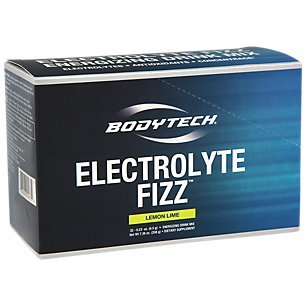 BodyTech Electrolyte Fizz Packets, Lemon Lime Supports Energy Endurance with 1200MG of Vitamin C, On The Go Refreshment (32 Packets)