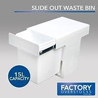KRB16-15L Slim Slide Out Waste Rubbish Dust Kitchen Bin