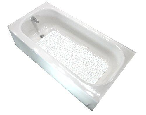 Gatorgrip Non Slip Bathtub Mat - No Suctions Cups - Peel & Stick - Adheres to the Bathtub! White/White