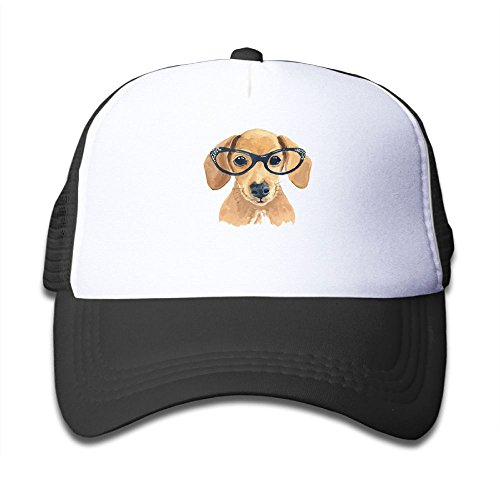 Nice DNUPUP Kid's Cute Dog with Glasses Adjustable Casual Cool Baseball Cap Mesh Hat Trucker Caps hot sale