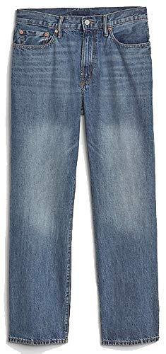 GAP Mens Light Blue Denim Authentic Mid Rise Relaxed Fit Jeans 32 x 30 - Gap Straight Fit Jeans