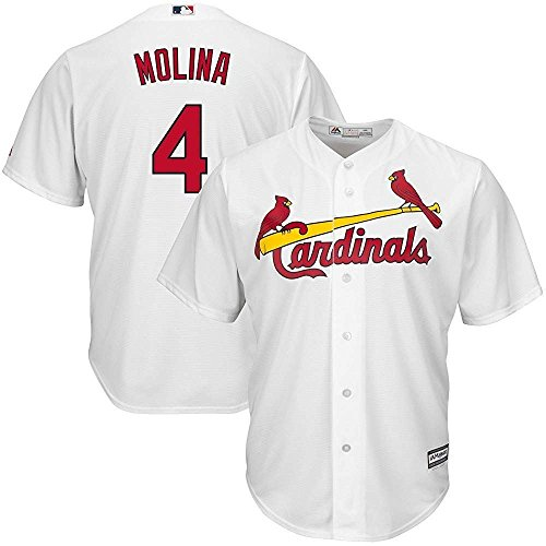 Majestic Yadier Molina St. Louis Cardinals MLB Kids White Home Cool Base Replica Jersey (Kids 5/6)