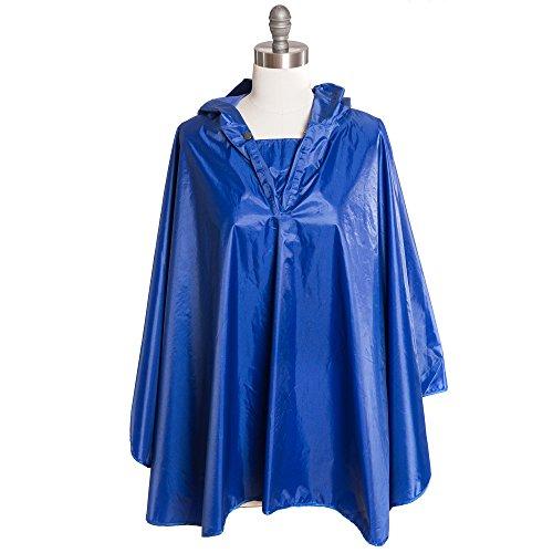free-spirit-weather-proof-lightweight-unisex-hooded-snap-rain-poncho-coat-cape-navy