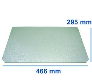 Glasplatte für Kühlschrank 466 x 295 x 4 mm Ariston Merloni C00144426