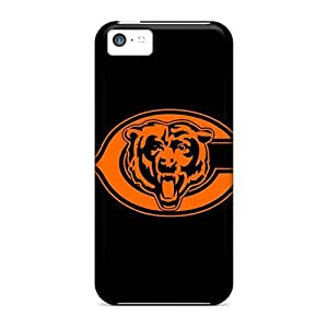 Shock-Absorbing Hard Phone Cover For Iphone 5c (JEu8109zmoX) Unique Design Nice Chicago Bears Pattern