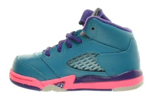 60e6390d0b9c86 Nike Jordan 5 Retro Kids (TD) Toddler Tropical Teal Digital Pink ...