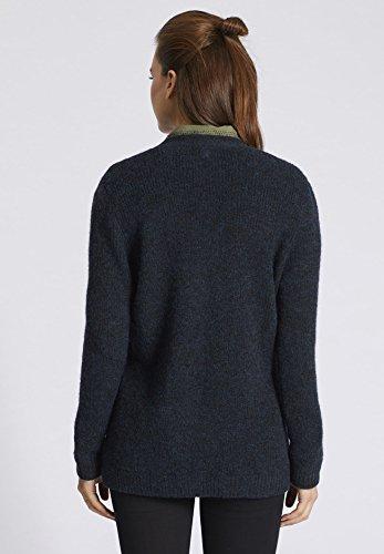 Small khujo Uni Bleu Femme Manches Gilet Longues rqz6Xwr1x