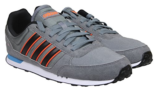 adidas Neo City Racer Herren Schuhe Grey / Black / Solar Orange