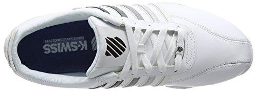 193 swiss black white Arvee K Homme Baskets 1 Blanc 5 Gradient Basses Weiß Fade AO6dUwPxq