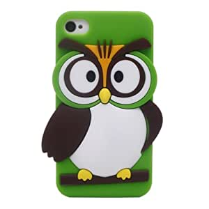 Cartoon Cute Silicone 3d Owl Design Hard Back Skin Case Cover for Iphone 4 4s