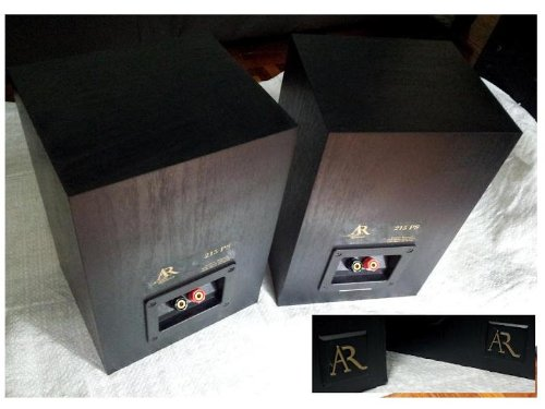 Acoustic Research AR 215PS Main 5 -1/4 2 way Bookshelf / Stereo Speaker (BLACK)