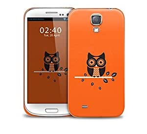 orange owl Samsung Galaxy S4 GS4 protective phone case