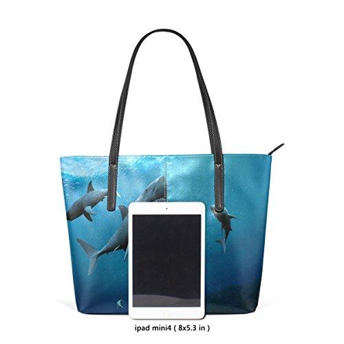 Women's Thrilling Handbag Shark Handle Shoulder Bags Underwater PU Leather TIZORAX Top Fashion World Purses Totes nq1ZIfBx5